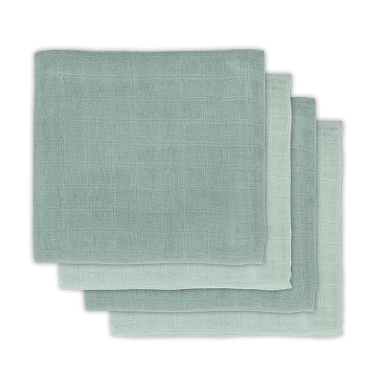 Picture of Jollein® Muslin Multi Cloth Bamboo Ash Green 4 pcs. 70x70