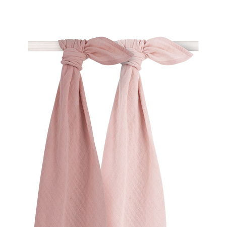 Picture of Jollein® Muslin Multi Cloth Bamboo Pale Pink 2pcs. 115x115