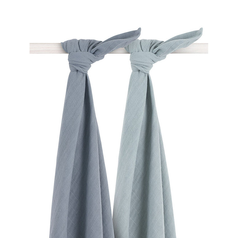 Picture of Jollein® Muslin Multi Cloth Bamboo Storm Grey 2pcs. 115x115