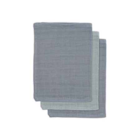 Picture of Jollein® Washcloths Muslin Bamboo Storm Grey (3pack)