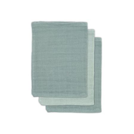 Picture of Jollein® Washcloths Muslin Bamboo Ash Green (3pack)