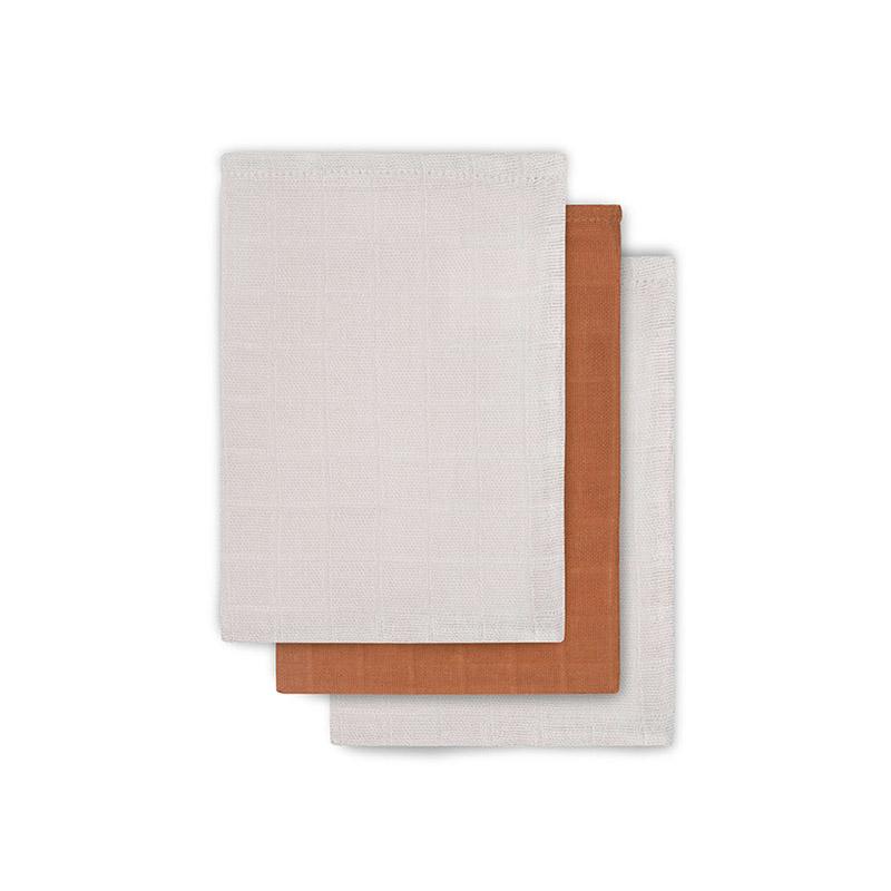 Picture of Jollein® Washcloths Muslin Bamboo Caramel (3pack)