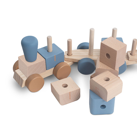 Picture of Jollein® Wooden Toy Train Blue