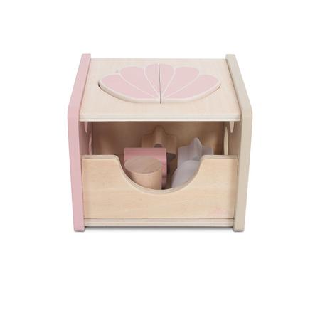 Picture of Jollein® Wooden Blocks Shape Sorter Shell Pink