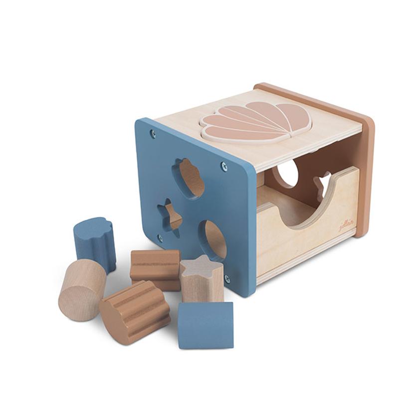 Picture of Jollein® Wooden Blocks Shape Sorter Shell Blue