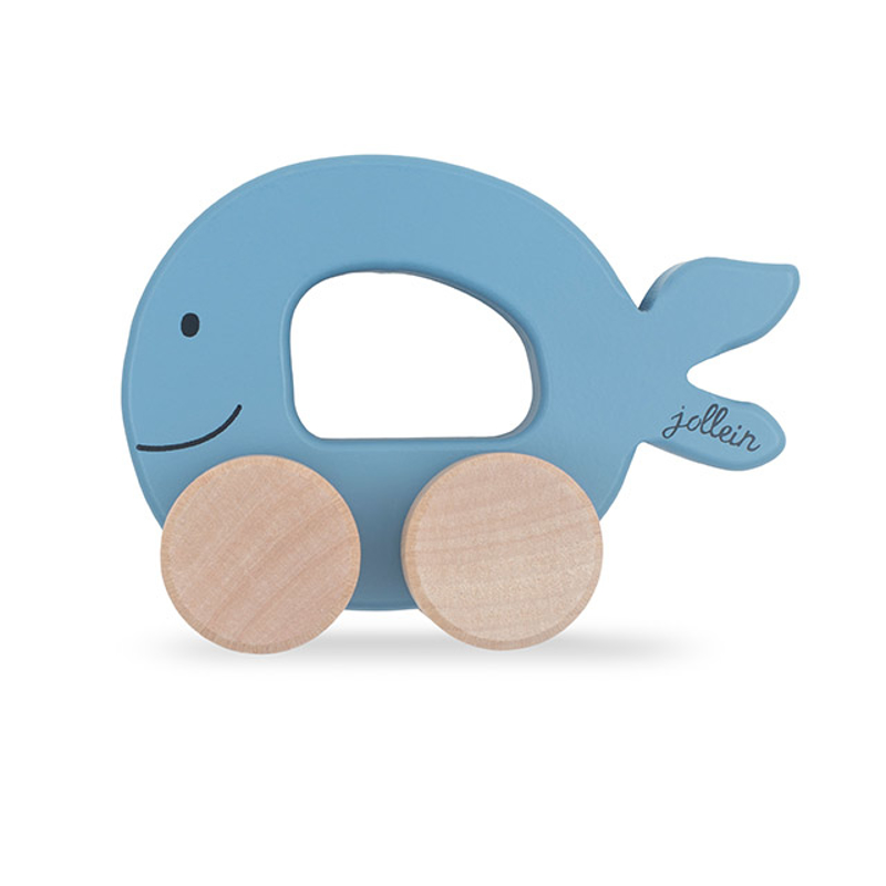 Picture of Jollein® Wooden Toy Car Fish Blue