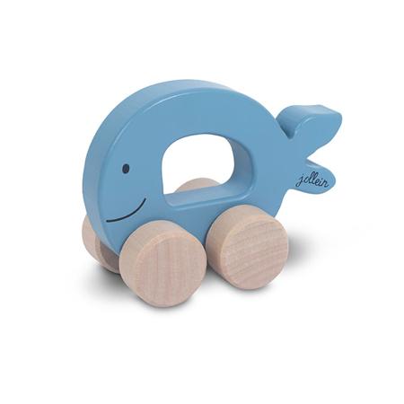 Jollein® Wooden Toy Car Fish Blue