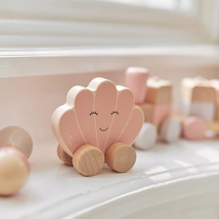 Picture of Jollein® Wooden Toy Car Shell Pink