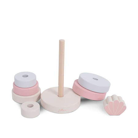 Jollein® Wooden Stacking Tower Shell Pink