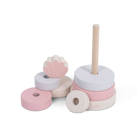 Picture of Jollein® Wooden Stacking Tower Shell Pink