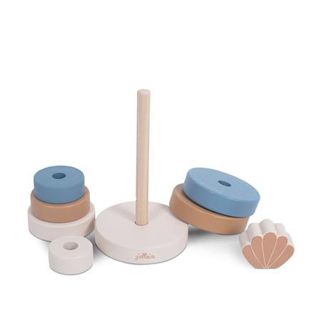 Jollein® Wooden Stacking Tower Shell Blue