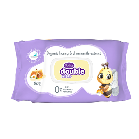Violeta® Baby Wipes With Chamomile Extract 80/1