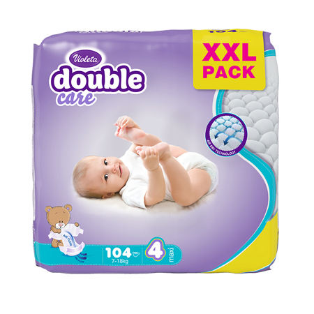 Picture of Violeta® Diapers Air Dry XXL 4 Maxi (7-18kg) 104/1