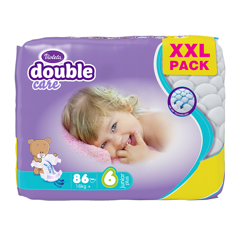 Picture of Violeta® Diapers Air Dry XXL 6 Junior+ (16 kg+) 86/1