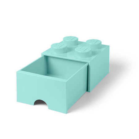 Picture of Lego® Storage Box with drawer Aqua