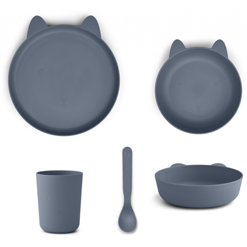 Picture of Liewood® Paul Silicone Tableware Rabbit blue wave