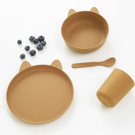 Picture of Liewood® Paul Silicone Tableware Rabbit Mustard