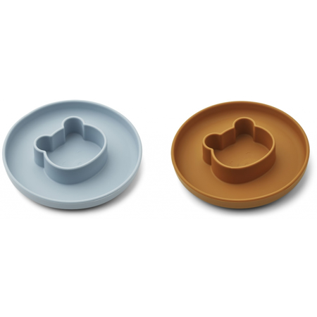Picture of Liewood® Gordon Plate 2 Pack -  Mr bear sea blue/mustard Mix