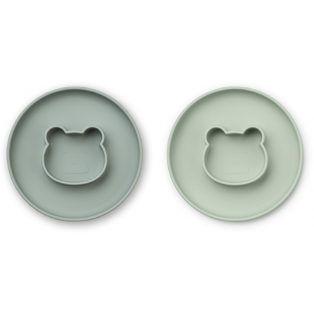 Picture of Liewood® Gordon Plate 2 Pack - Mr Bear Mint Mix