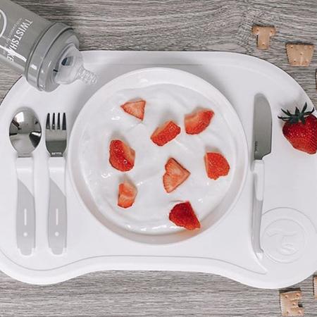 Picture of Twistshake Click-Mat Mini + plate (6+M)  White