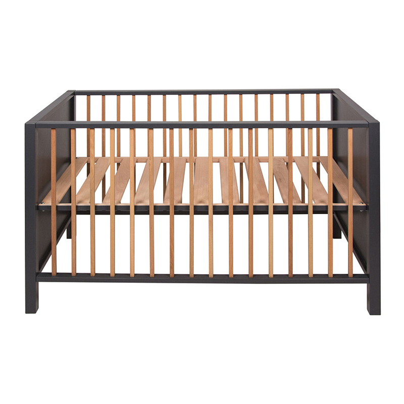 Picture of Quax® Baby Cot/Bench Nordic 120x60 Moon Shadow / Natural