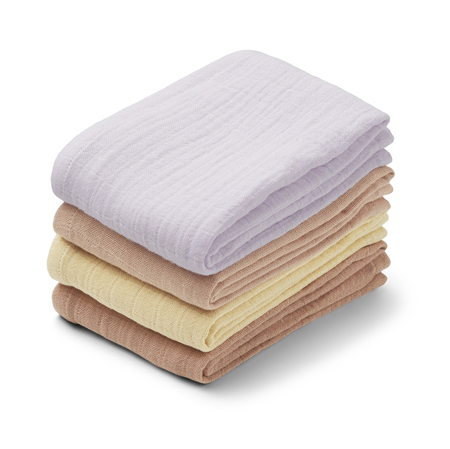 Picture of Liewood® Leon Muslin Cloth 4 Pack - Light Lavender Multi Mix