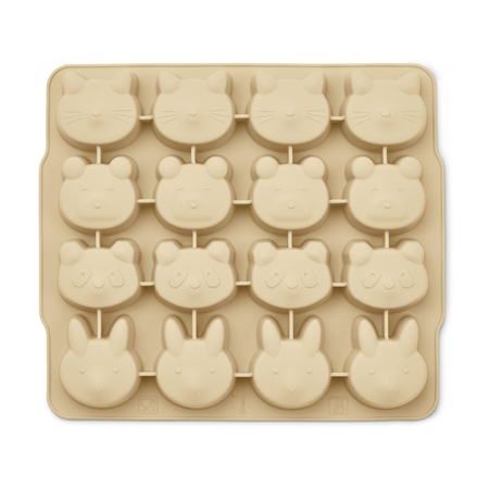 Picture of Liewood® Sonny Ice Cube Tray 2 Pack - Wheat Yellow Sandy Mix