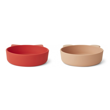 Picture of Liewood® Vanessa Plate 2 Pack - Apple Red/Tuscany Rose Mix