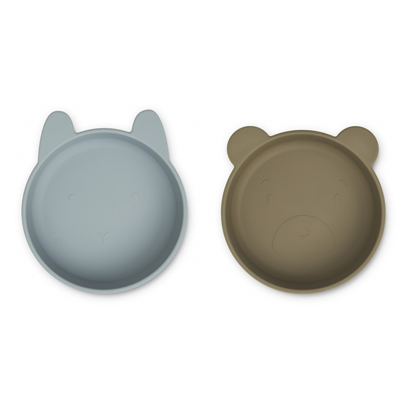 Picture of Liewood® Vanessa Plate 2 Pack - Blue Fog/Khaki Mix