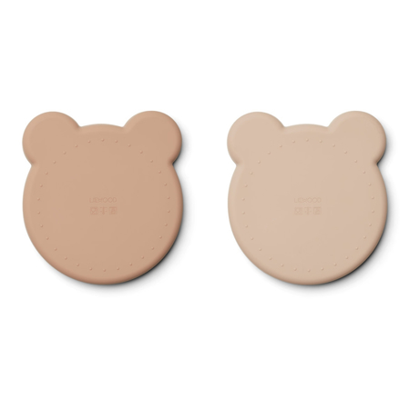Picture of Liewood® Marty Silicone plate 2 Pack - Mr Bear Rose Mix