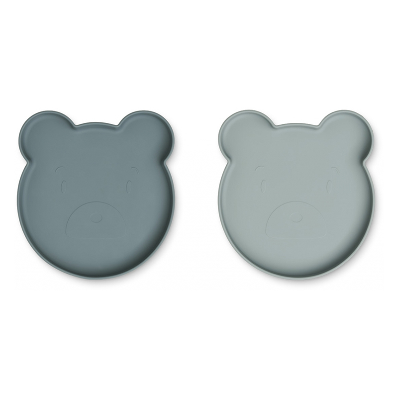 Picture of Liewood® Marty Silicone plate 2 Pack  Mr Bear Blue Mix