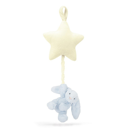 Picture of Jellycat® Bashful Blue Bunny Musical Pull 28cm