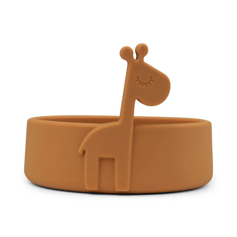 Picture of Done by Deer® Silicone bowl Peekaboo Raffi Mustard