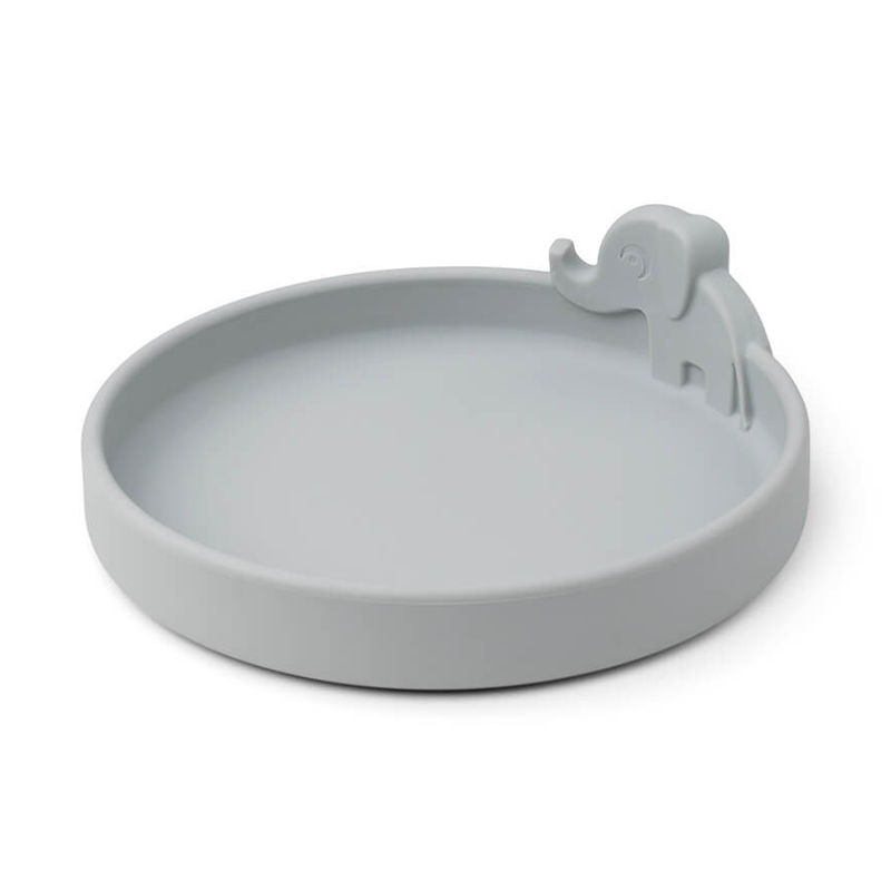 Picture of Done by Deer® Silicone plate Peekaboo Elphee Grey