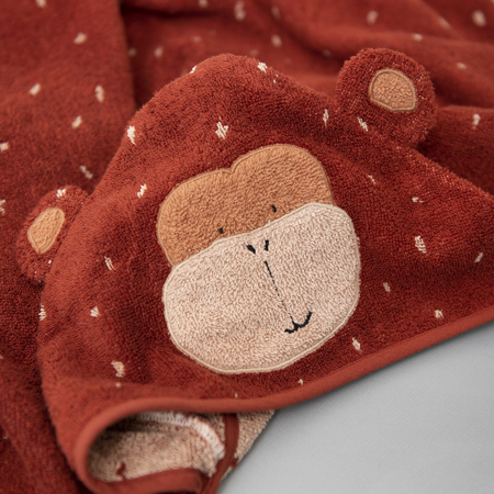 Picture of Trixie Baby® Hooded towel 75x75 - Mr. Monkey
