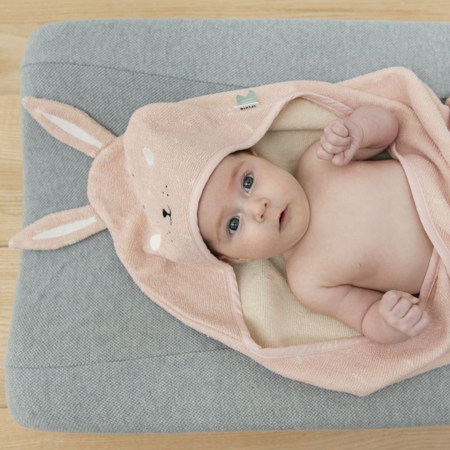 Picture of Trixie Baby® Hooded towel 75x75 - Mrs. Rabbit