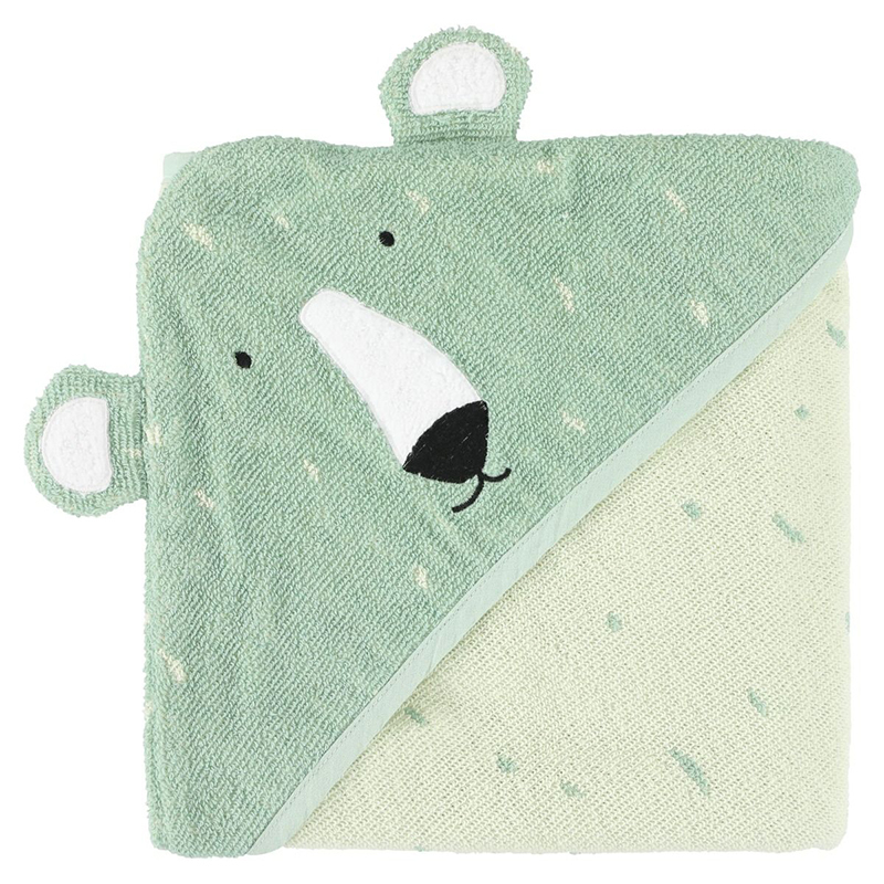 Picture of Trixie Baby® Hooded towel 75x75 - Mr. Polar Bear