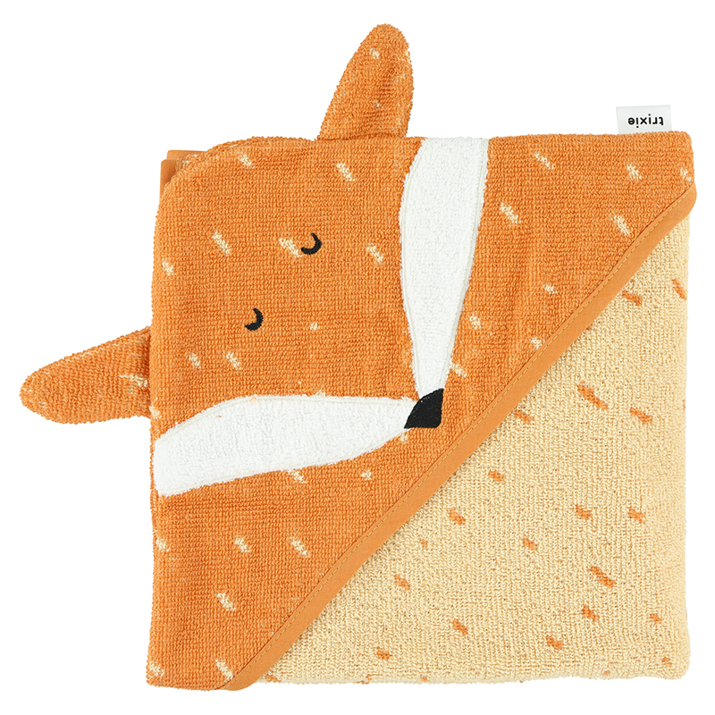 Picture of Trixie Baby® Hooded towel 75x75 - Mr. Fox