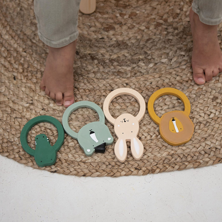 Picture of Trixie Baby® Natural rubber round teether - Mrs. Rabbit