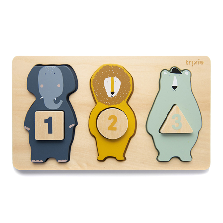 Picture of Trixie Baby® Wooden counting puzzle