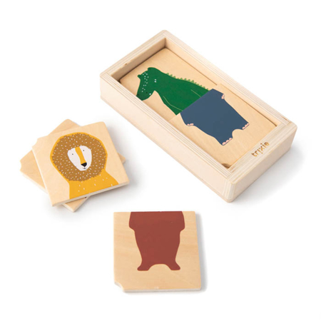 Picture of Trixie Baby® Wooden animal combo puzzle