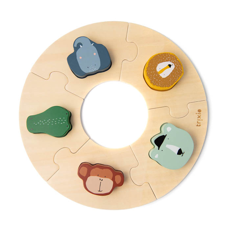 Picture of Trixie Baby® Wooden round puzzle