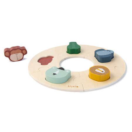 Trixie Baby® Wooden round puzzle