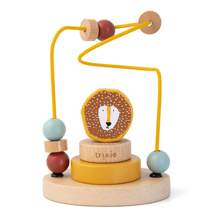 Picture of Trixie Baby® Wooden beads maze - Mr. Lion