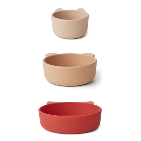 Picture of Liewood® Eddie bowls - Apple Red/Rose Multi Mix 3 pack
