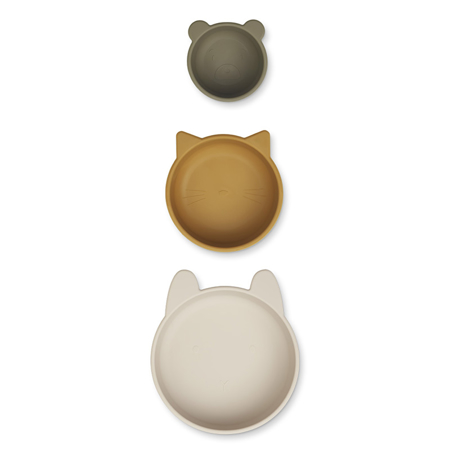 Picture of Liewood® Eddie bowls - Sandy Khaki Multi Mix 3 pack