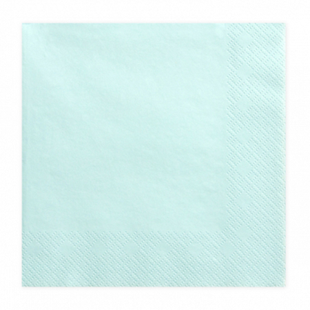 Picture of Party Deco® Napkins 3 layers, Pale Turquoise 20 pcs.