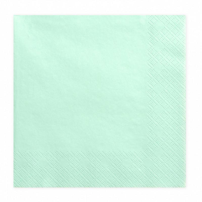 Picture of Party Deco® Napkins 3 layers, Mint 20 pcs.