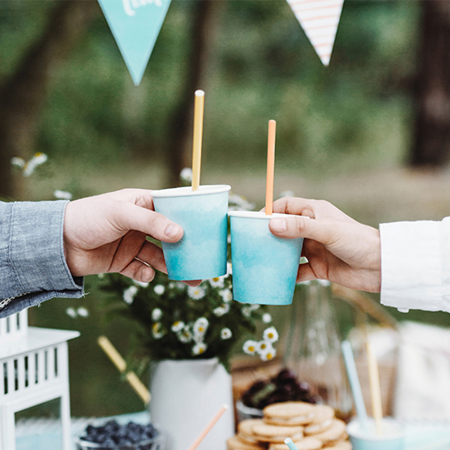 Picture of Party Deco® Paper Straws Summer Time 10 pcs.