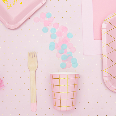Picture of Party Deco Wooden Cutlery,  Light Pink 18 pcs